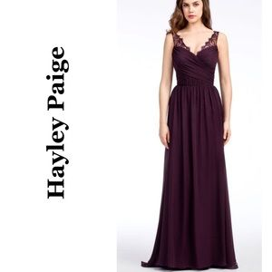 NWT Hayley Paige Occasions Plum Gown Dress 5664 12